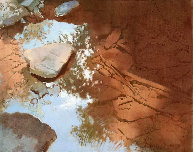 art by Alex losett, painting Disturbance
