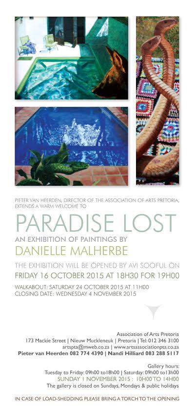 DanielleMalherbeParadiseLostInvite