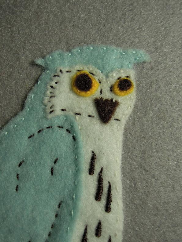 Owl Kindle Case Detail Face