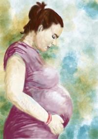 Pregnant small